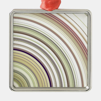 Concentric Rings Abstract Metal Ornament