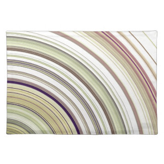Concentric Rings Abstract Placemats
