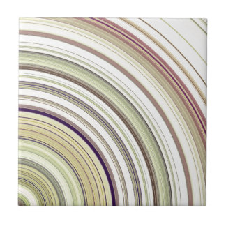 Concentric Rings Abstract Tile