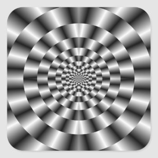 Concentric Rings in Monochrome Sticker