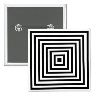 Concentric Squares Infinity Optical Art Button