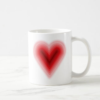 Concentric Valentine's Day Heart with Gradient Coffee Mug