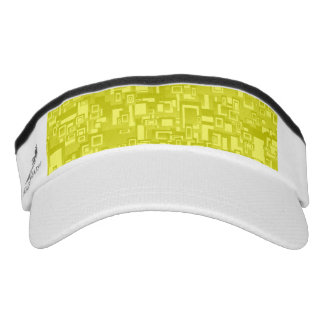 Concentric Yellow Geometric Abstract Art Visor