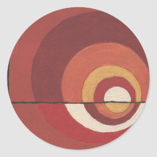 ConcentricCircles Abstract Round Sticker