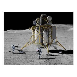 Concept Art of Altair Lunar Lander and Astronauts Postcard