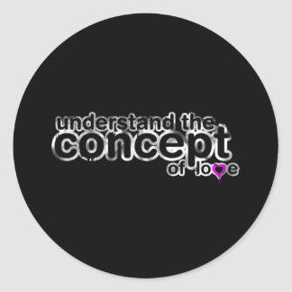 Concept Of Love Classic Round Sticker