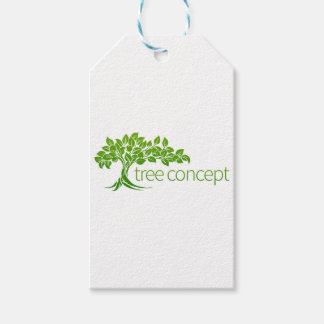 Conceptual Apple Tree Gift Tags