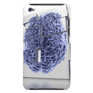 Conceptual computer artwork of building blocks iPod touch cases