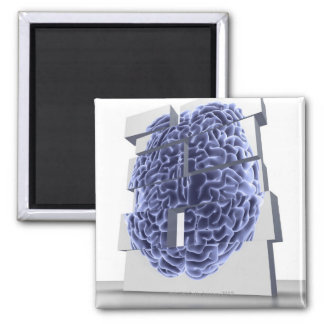 Conceptual computer artwork of building blocks square magnet