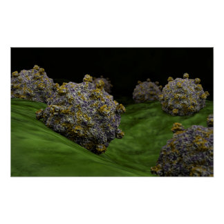 Conceptual Image Of Coxsackievirus 1 Print