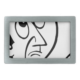 Concerned Face Belt Buckle