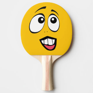 Concerned Yellow Emoji Ping Pong Paddle