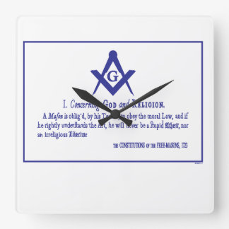 CONCERNING GOD AND RELIGION SQUARE WALL CLOCK