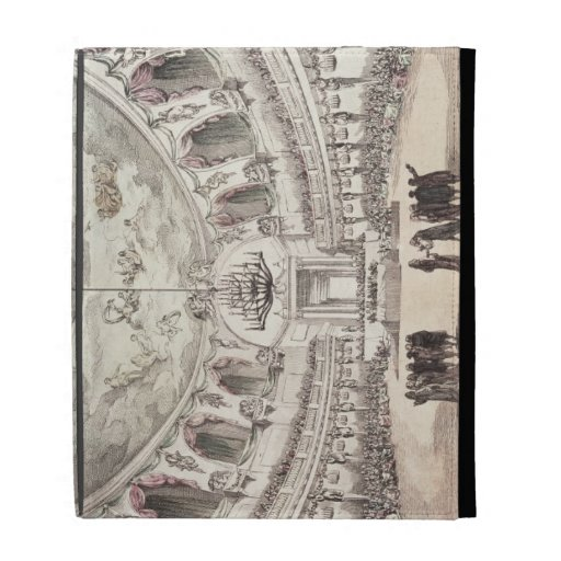 Concert Hall in Venice, 18th century (coloured eng iPad Cases