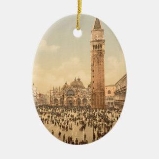 Concert in St Mark's Square II, Venice, Italy Ceramic Ornament