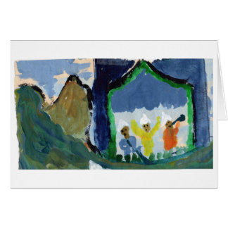 Concert in the mountains note card (greeting)