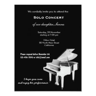 Concert Music 11 Cm X 14 Cm Invitation Card