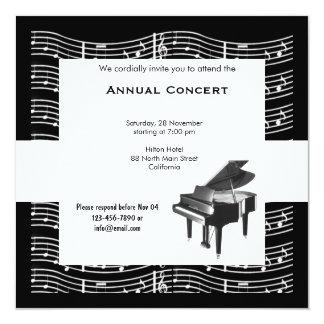 Concert Music 13 Cm X 13 Cm Square Invitation Card