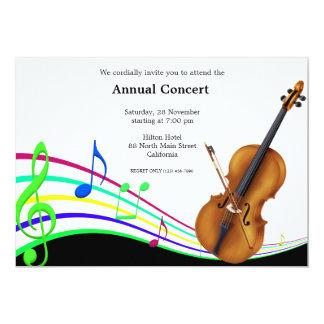 Concert Music 13 Cm X 18 Cm Invitation Card