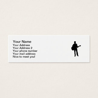 Concert musician guitar mini business card