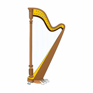 Concert Pedal Harp Graphic Design Photo Sculptures