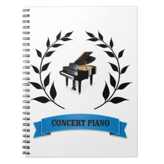 concert piano spiral notebook
