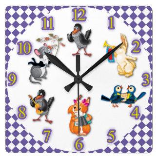 concert square wall clock