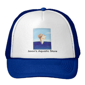 Conch Sea Shell Ocean painting, Aquatic store hats