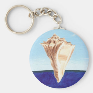Conch Sea Shell Ocean painting, key chains