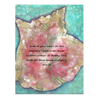 Conch shell postcard
