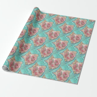Conch shell wrapping paper