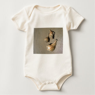 Conch shells baby bodysuit