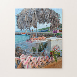 Conch shells on a stall in Saint Vincents. Jigsaw Puzzle