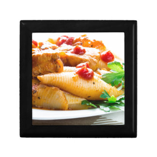 Conchiglioni pasta closeup gift box