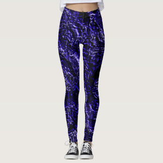 Concord Grape Goth Roses Leggings