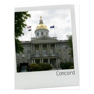 Concord, New Hampshire Capitol Building gold dome Postcard