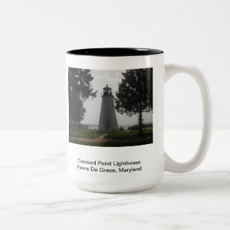 Concord Point Lighthouse Two-Tone Coffee Mug