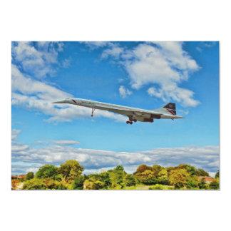 Concorde on Finals 13 Cm X 18 Cm Invitation Card