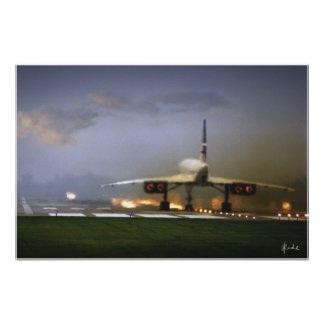 """Concorde Takeoff"" Poster"