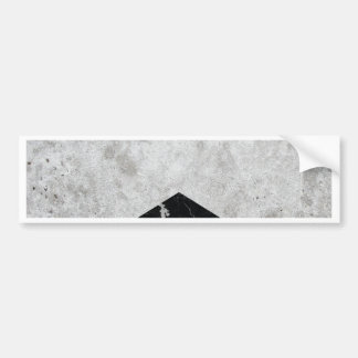 Concrete Arrow Black Granite #844 Bumper Sticker