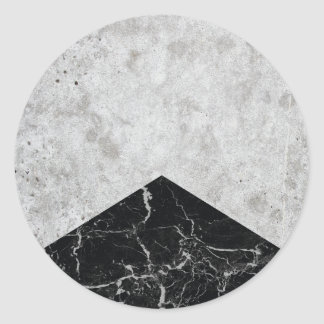 Concrete Arrow Black Granite #844 Classic Round Sticker