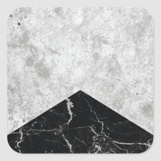 Concrete Arrow Black Granite #844 Square Sticker