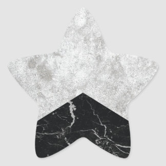 Concrete Arrow Black Granite #844 Star Sticker