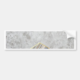 Concrete Arrow Blue Marble #177 Bumper Sticker