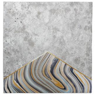 Concrete Arrow Blue Marble #177 Napkin