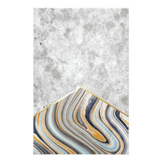 Concrete Arrow Blue Marble #177 Stationery