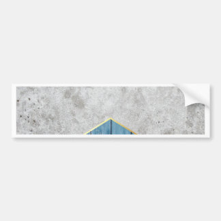 Concrete Arrow Blue Wood #347 Bumper Sticker
