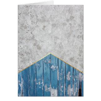 Concrete Arrow Blue Wood #347 Card