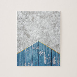 Concrete Arrow Blue Wood #347 Jigsaw Puzzle
