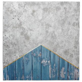 Concrete Arrow Blue Wood #347 Napkin